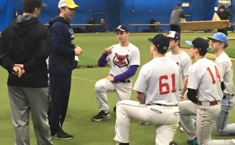 Coach talking to players